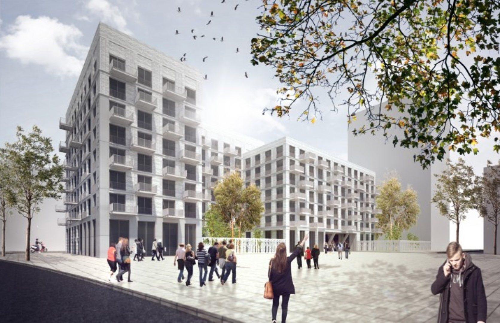mpressie van de Calandstraat in Den Haag welke is voorzien van een MD Designperforatie afscheidingshek