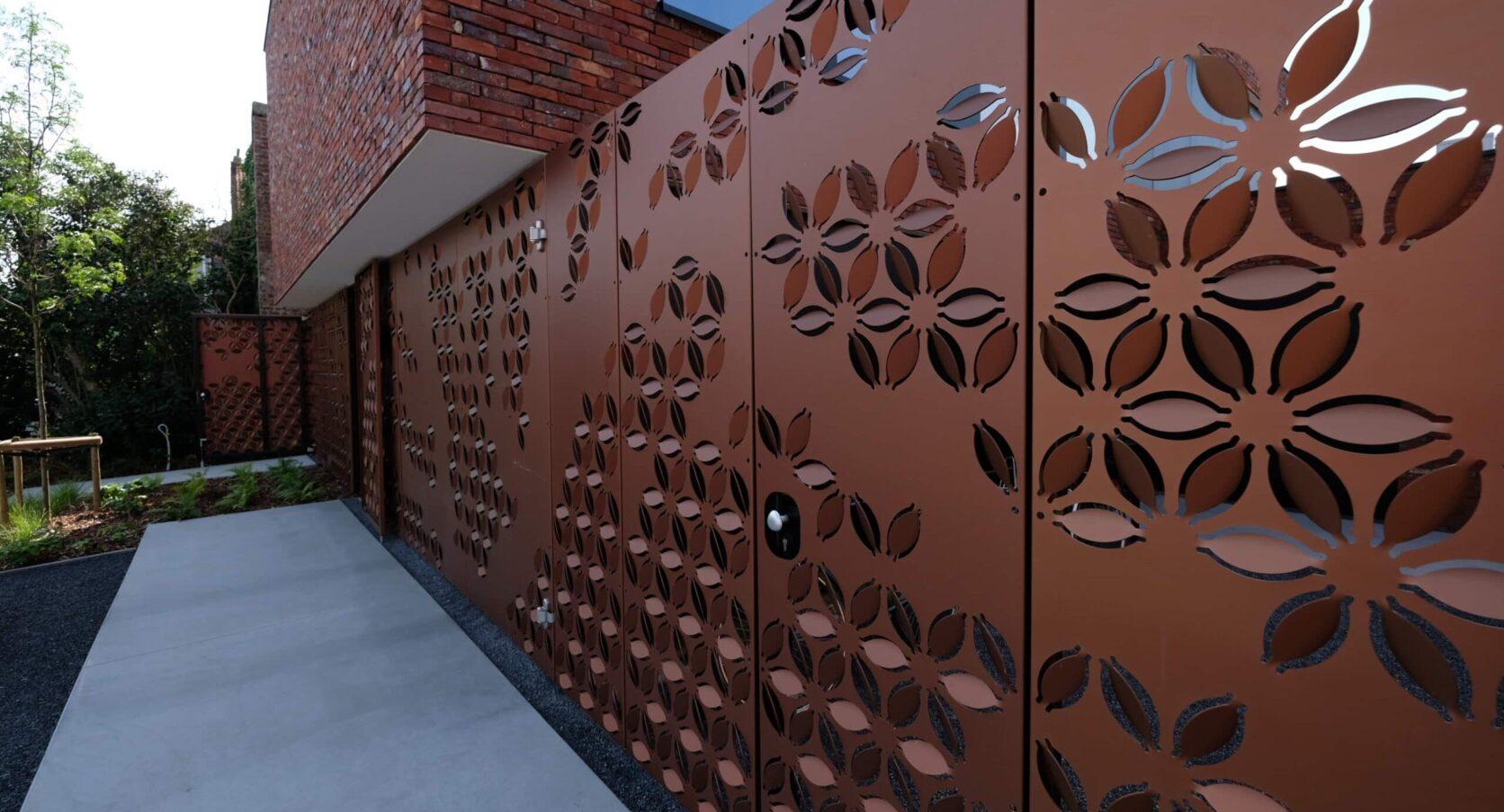 Detail van de MD Formatura panelen voor woning in Kortrijk