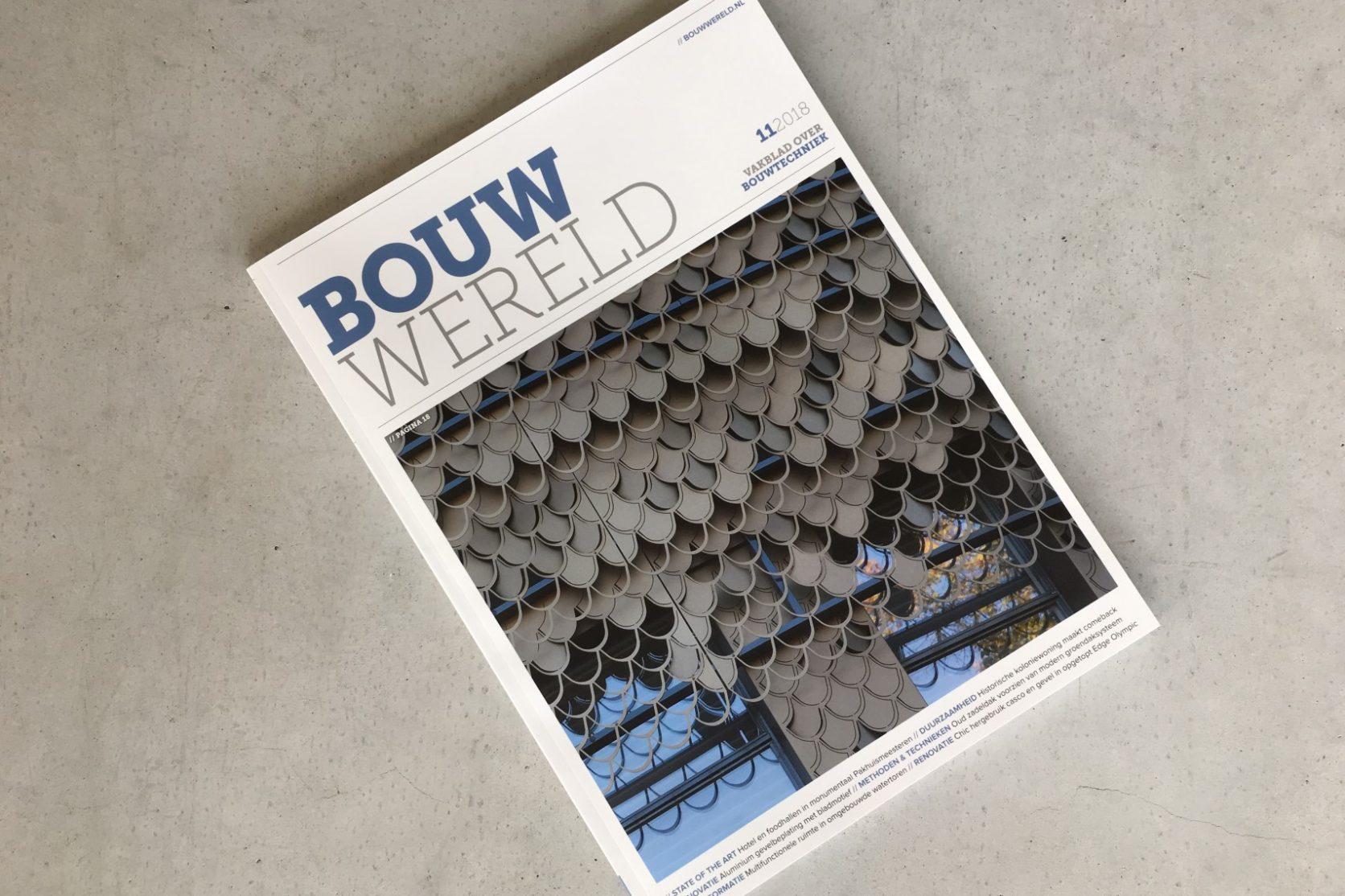 Artikel Bouwwereld Plantsoen Leiden Bladmotief gevel