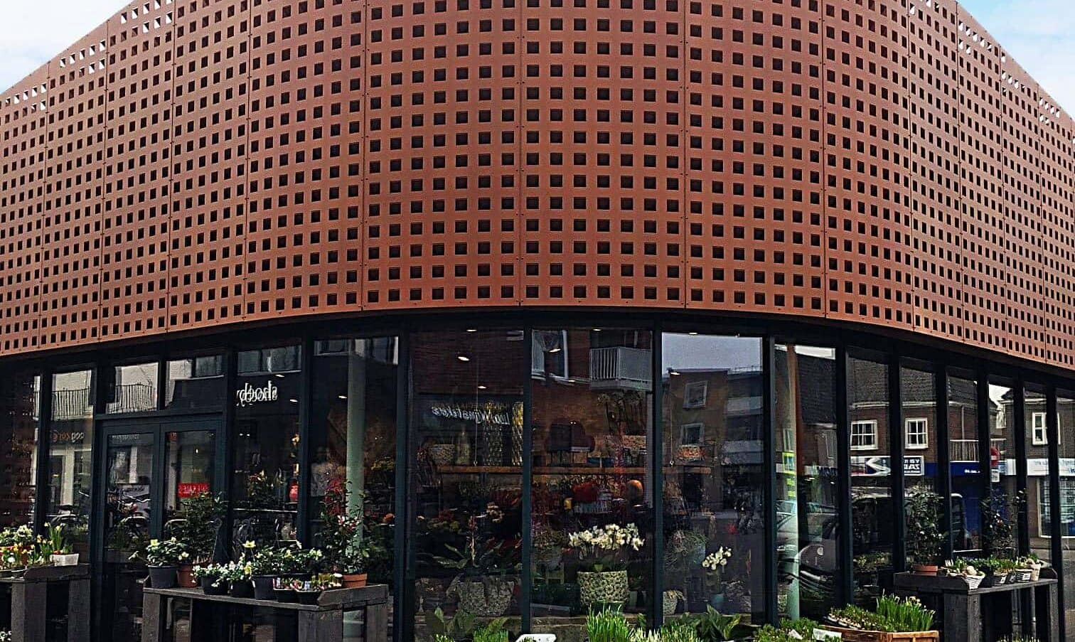 Paviljoen Vlijmen Vooraanzicht Bloemenwinkel Ronding Formatura