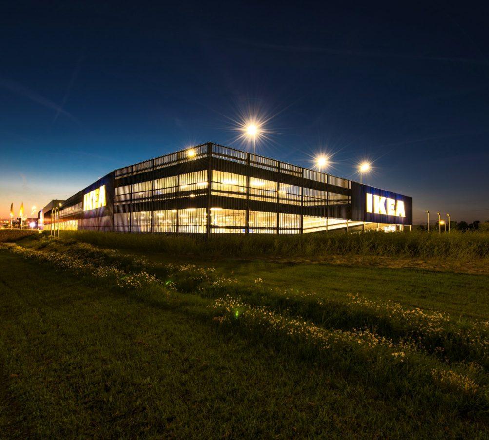 MD lamel gevelbekleding bij Ikea Zwolle