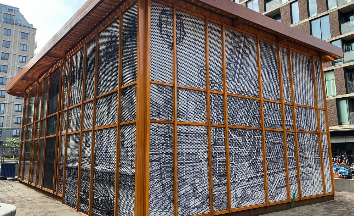 Zijdebalen Paviljoen strekmetaal panelen patronen gesublimeerd