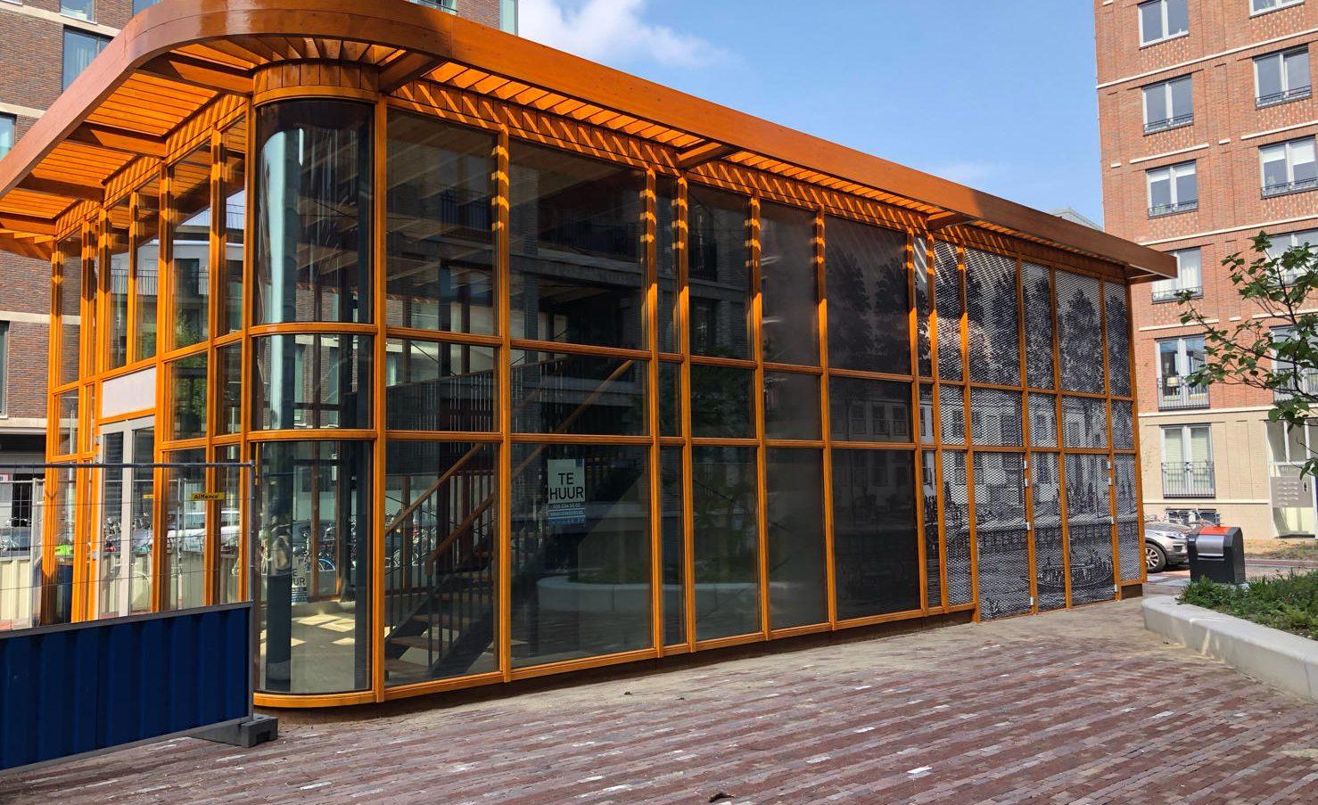 Zijdebalen Paviljoen strekmetaal panelen patroon
