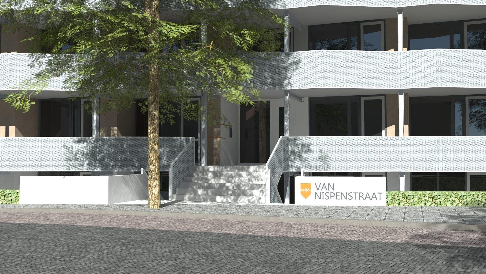 Detail MD Strekmetaal balustrades Nispenstraat Nijmegen