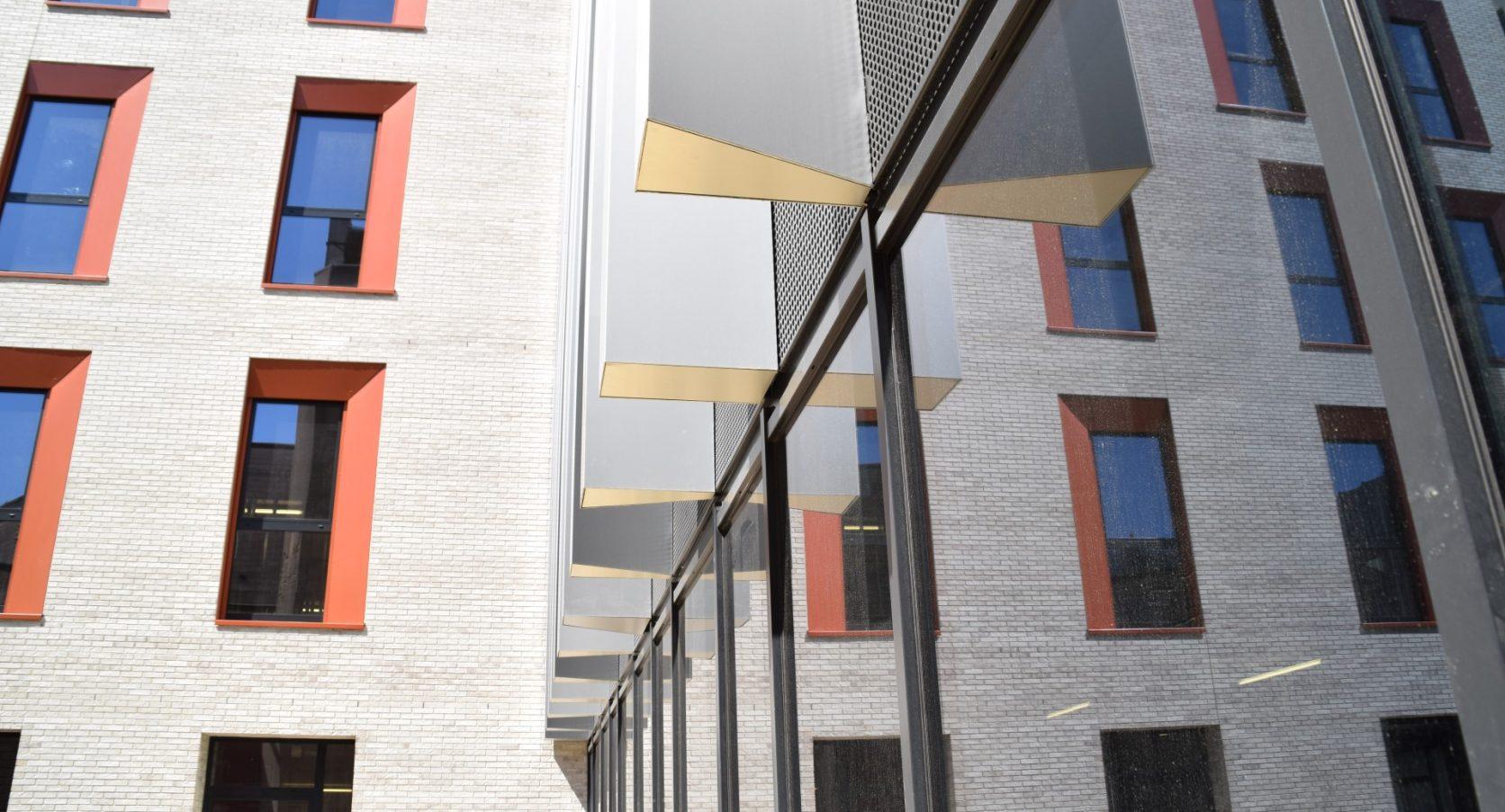 Detail lamellen Ku Leuven