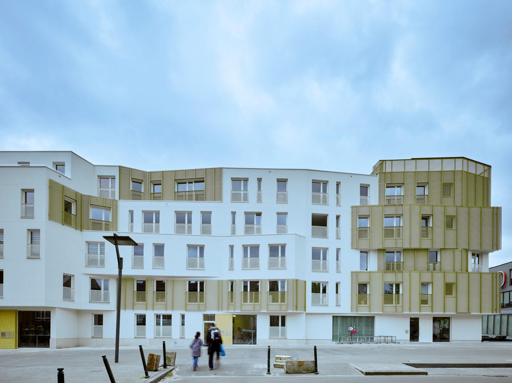 Appartementencomplex Vandermaelen Brussel Belgie vooraanzicht