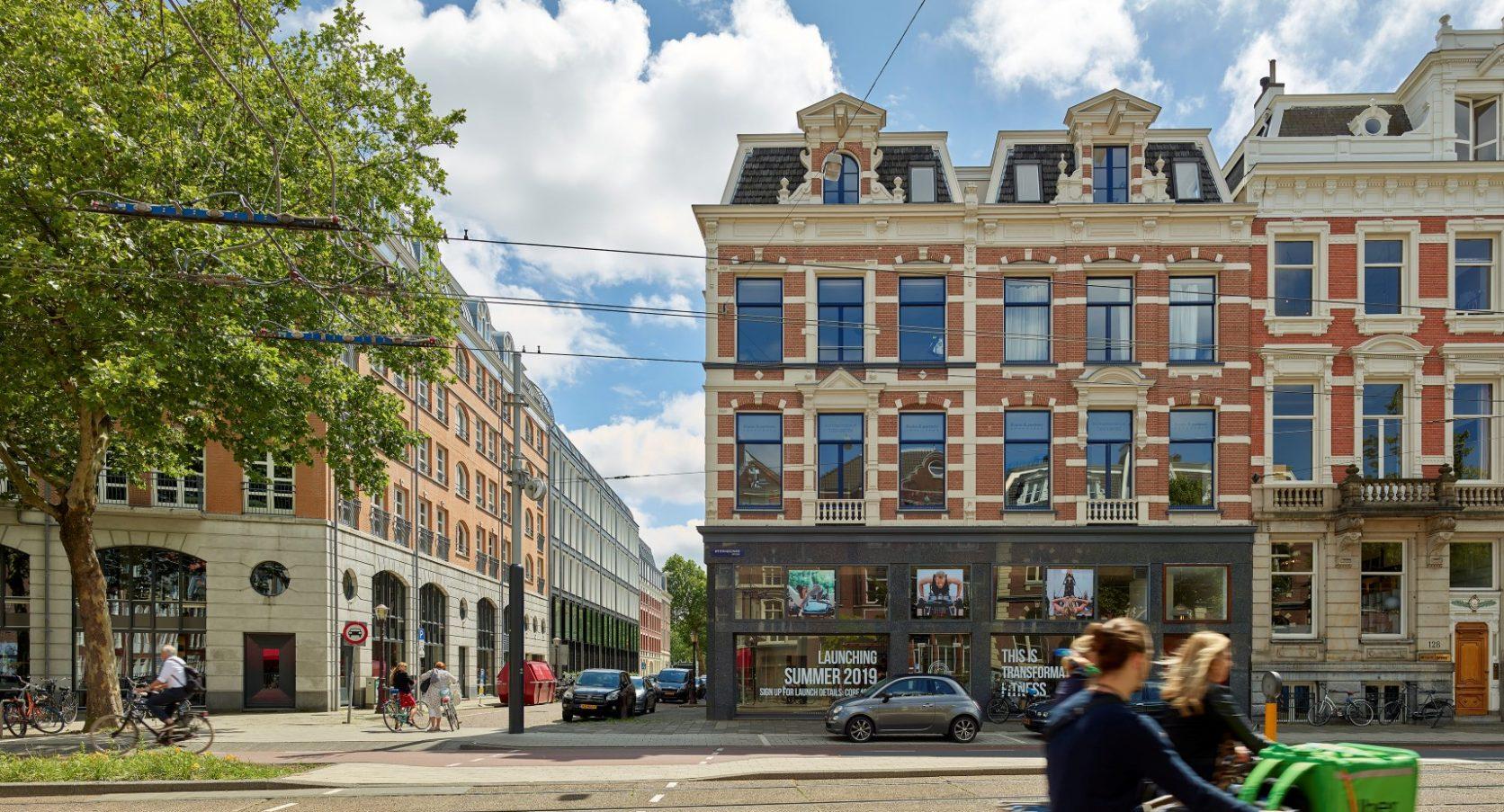 Straatbeeld Huidekoperstraat Amsterdam gevelbekleding