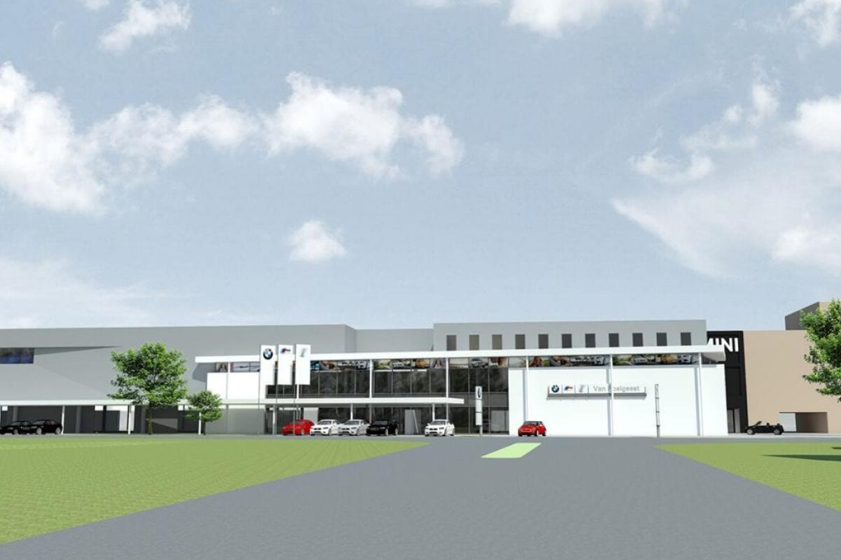 BMW en Mini in Heemstede voorkant MD Designperforatie gevel