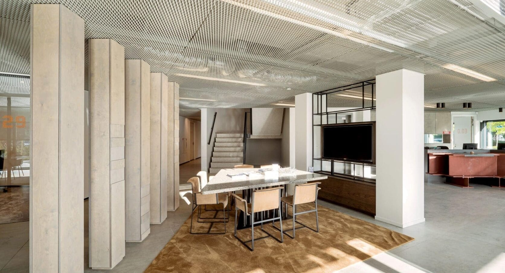 Ontvangst Kantoor Aan de Stegge Twello Plafonds MD Strekmetaal