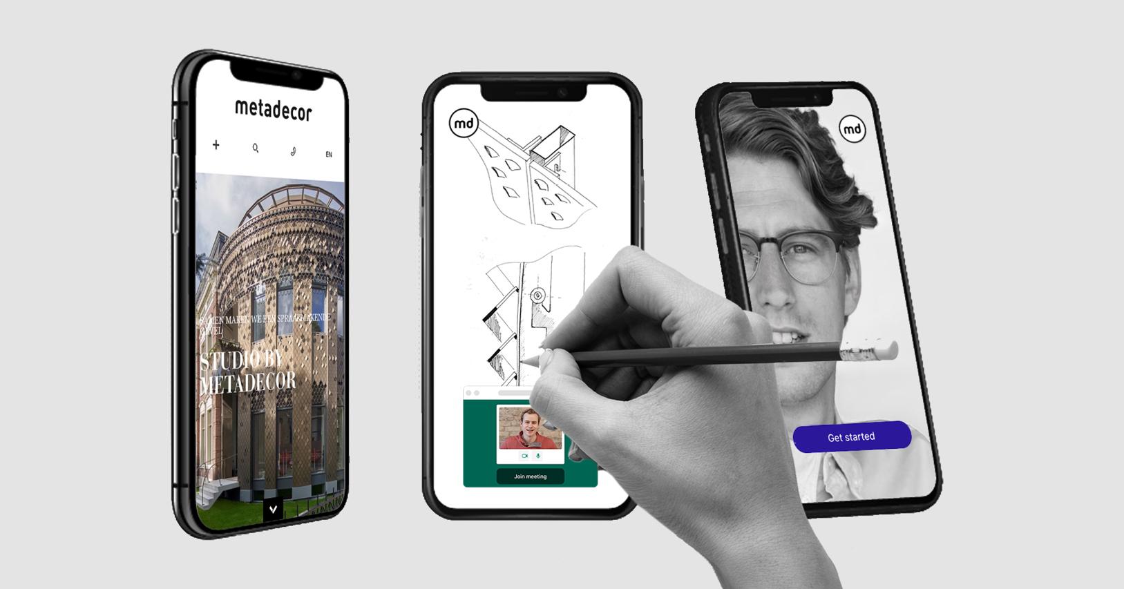 Werk online samen met Metadecor en vraag een online ontwerp sessie aan