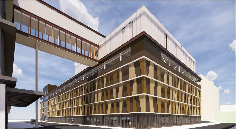 Reinier de Graaf Gasthuis in Delft Uitbreiding OK-complex gevelbekleding Metadecor