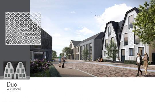 Woonwijk De Krijgsman in Muiden MD Designperforatie gevelbekleding