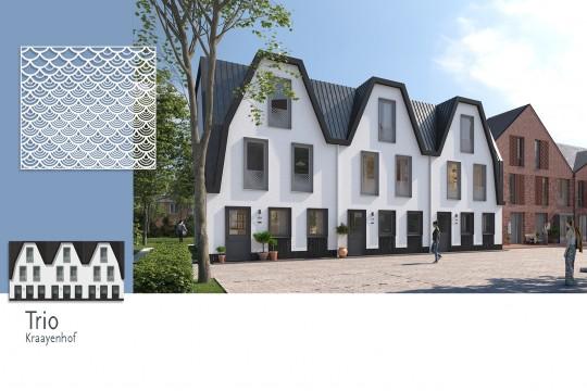Woonwijk De Krijgsman in Muiden gevelbekleding MD Designperforatie