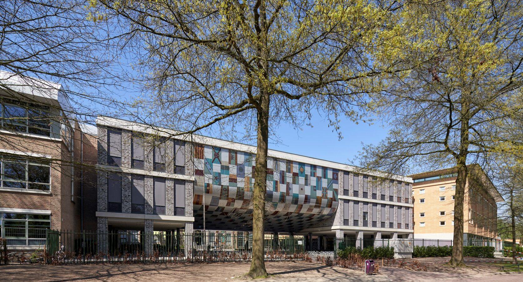 International Campus Breda MD Flack gevelbekleding geprint overview