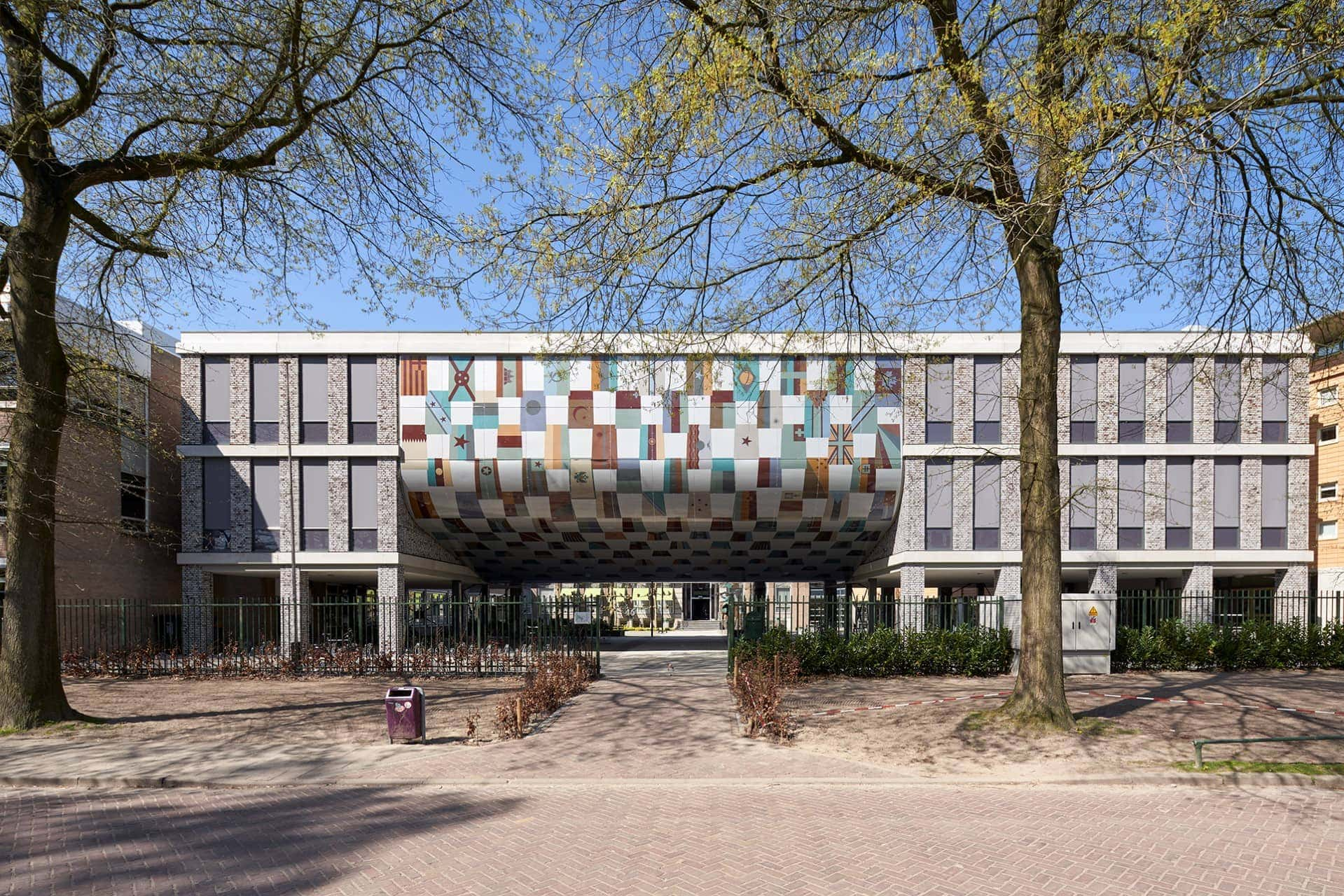 MD Flack gevel geprint International Campus Breda
