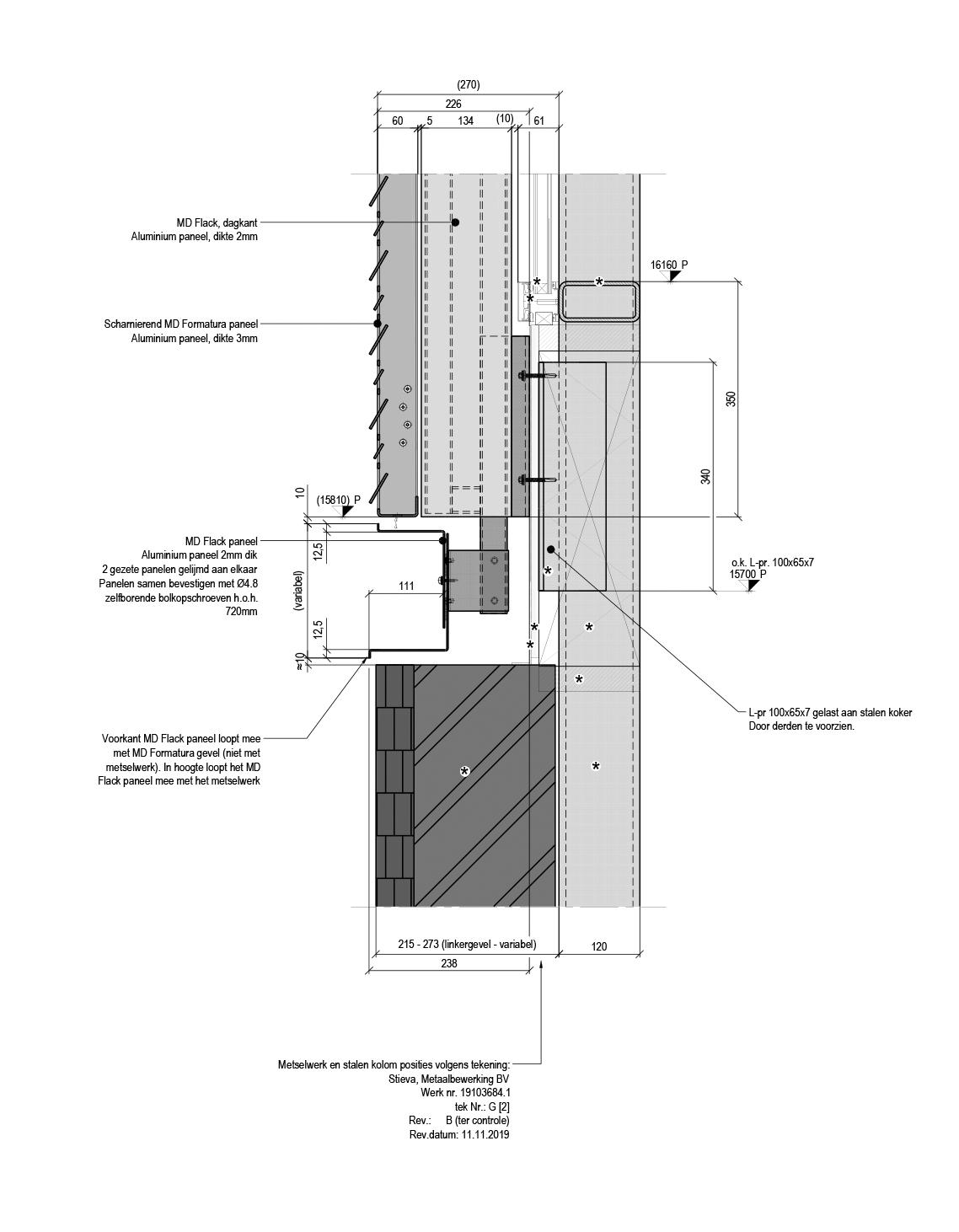 MD Formatura gevel bevestiging detail Prins Hendrinkkade Amsterdam