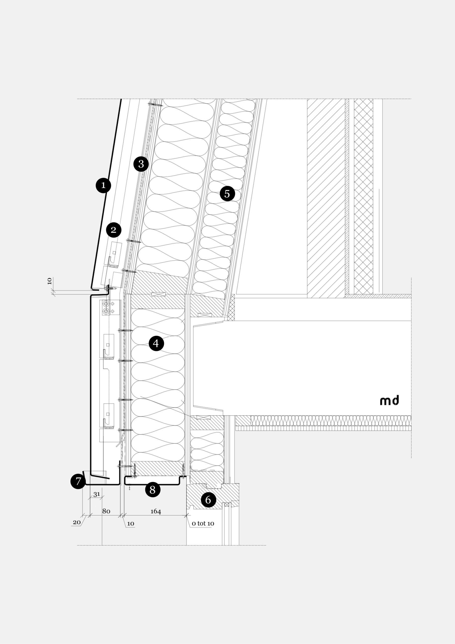 Villa Noorderlaan detail V06 MD Flack Corten gevel