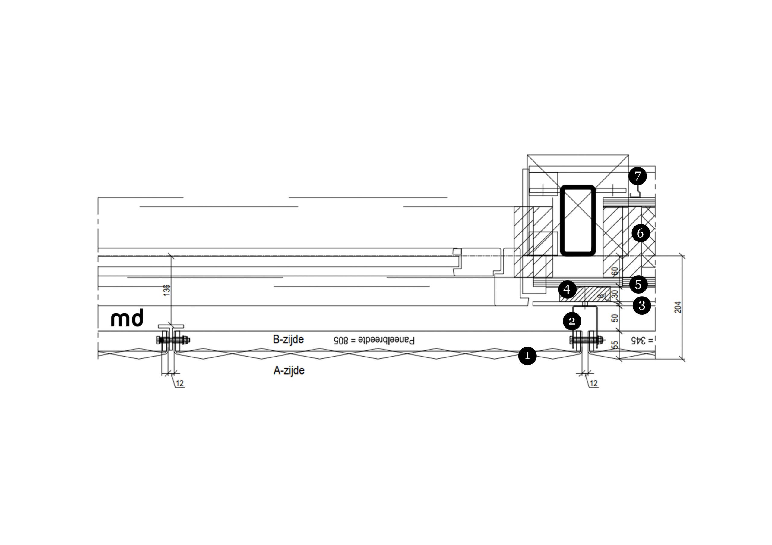 5307 - H01 detail Nieuwe Ooster - Opmaak