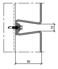 Bevestigingssysteem vlakke panelen FLR112