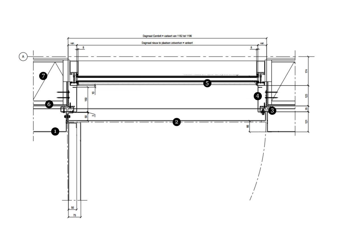 Bouwkundig detail H01 Kantoor Metadecor-Opmaak