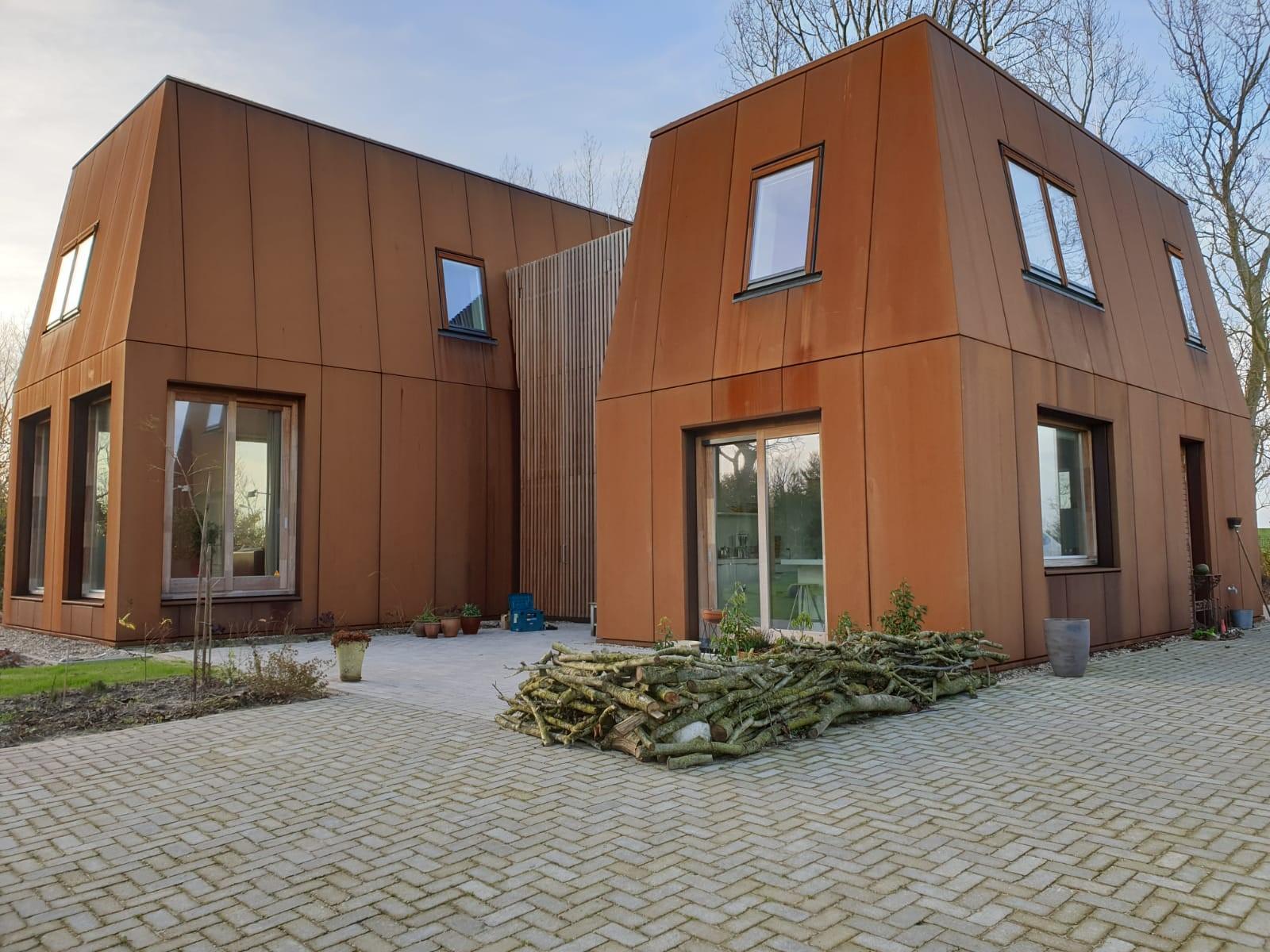 Villa Noorderlaan Hippolytushoef MD Flack gevelbekleding corten voorkant