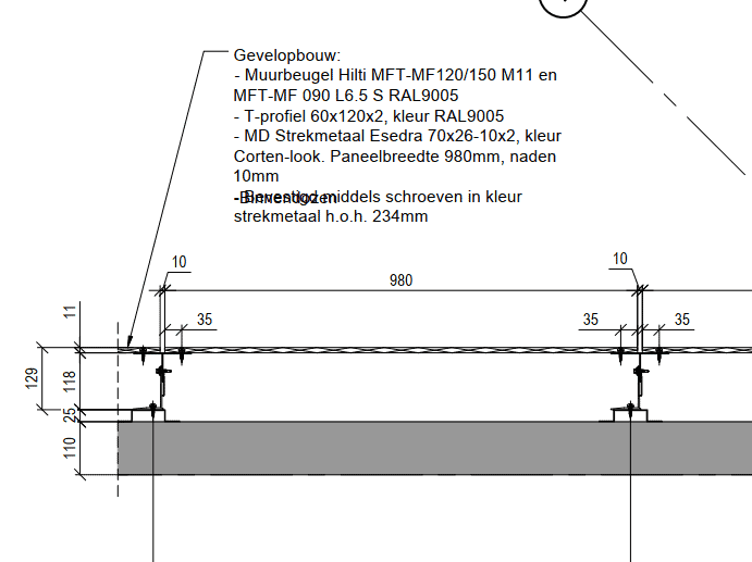 Detail gevelopbouw Morssinkhof Plastics Zeewolde