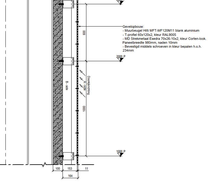 Detail gevelopbouw Morssinkhof Zeewolde