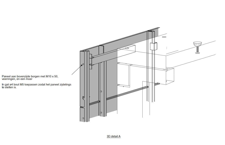 Detail Bevestiging gevelbekleding De Kromme Elleboog in Meppel