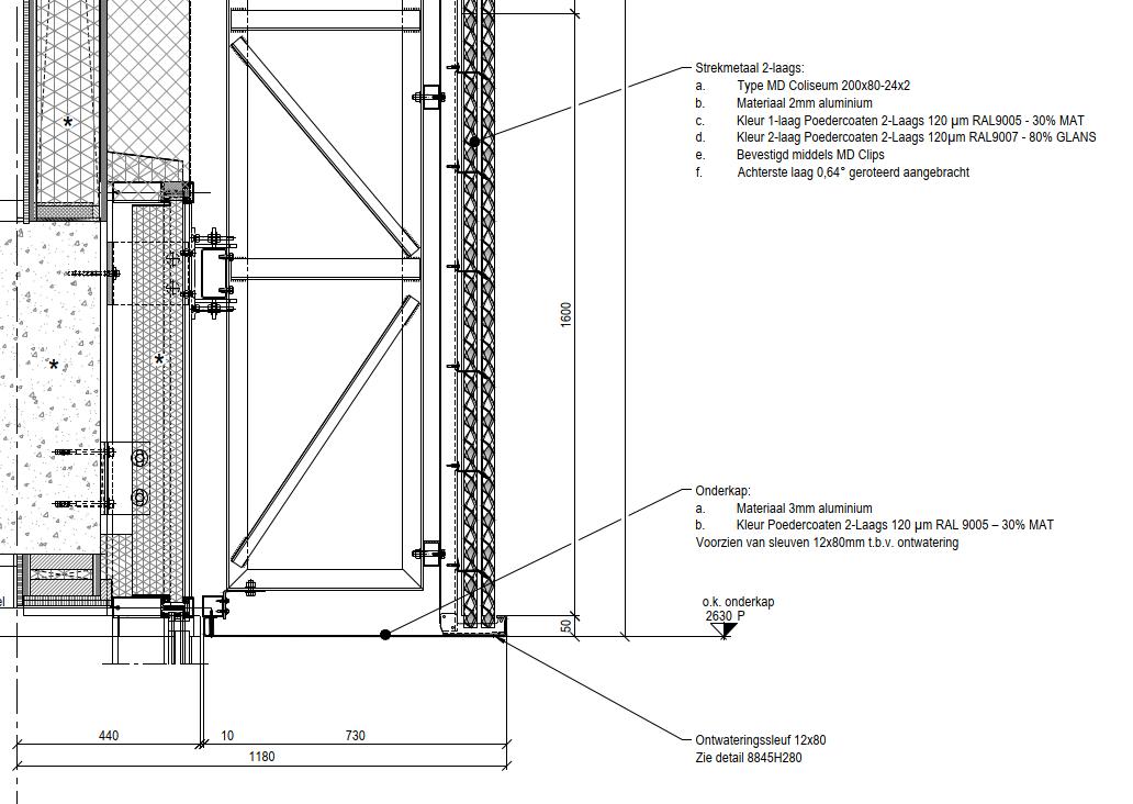 detail strekmetaal moire fellenoord